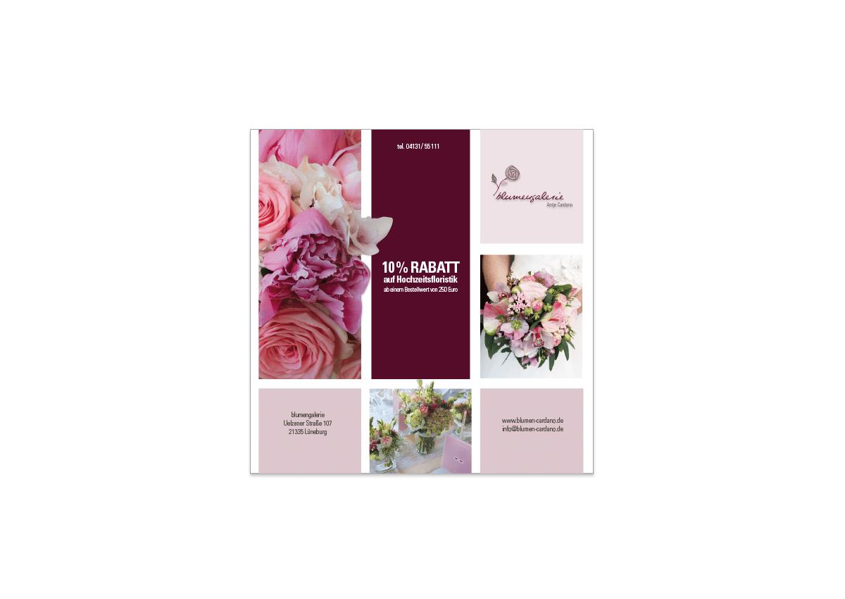 blumengalerie – Antje Cardano Anzeige DESIGN/KONZEPT/IDEE 2016  Rundum-Service